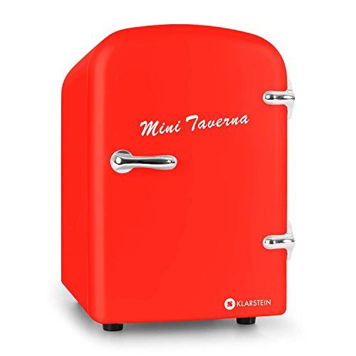 KLARSTEIN Mini Taverna Mini Nevera Portátil • Doble función Refrigera y Mantiene Caliente • 4 litros • Liviana • Bajo Ruido • para Red electrica y 12 V para Coche • Plata