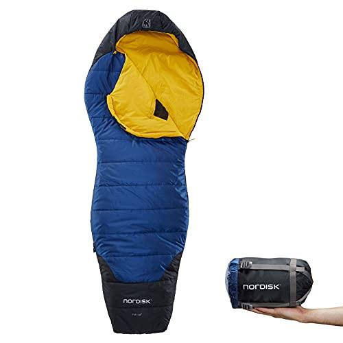 Nordisk Puk +10° Curve Schlafsack M True Navy/Mustard Yellow/Black 2021 Quechua Schlafsack