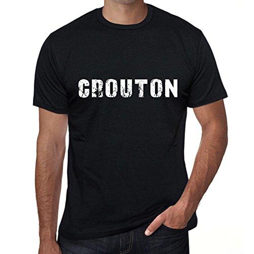 Herren Grafikdesign Vintage Geschenk T-Shirt Fügen Sie Ihren eigenen Text Crouton 3XL Schwarz