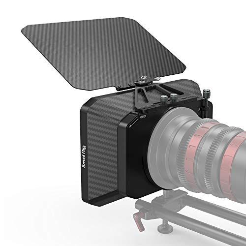 SMALLRIG Matte Box Liviana para Cámaras DSLR Mirrorless Compatible con Lentes de 67 mm / 72 mm / 77 mm / 82 mm / 114 mm - 2660