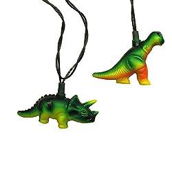 6. Kurt Adler UL T-Rex and Styracosaurus Light Set