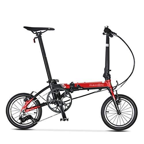 Bicicletas Bicicletas De Estilo Clásico Bicicletas Plegables para Niños Y Niñas (Color : Red, Size : 119.5 * 91cm)