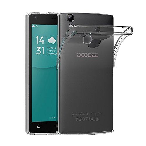 AICEK DOOGEE X5 MAX Hülle, Transparent Silikon Schutzhülle für DOOGEE X5 MAX Pro Case Crystal Clear Durchsichtige TPU Bumper DOOGEE X5 MAX Pro Handyhülle (5 Zoll)