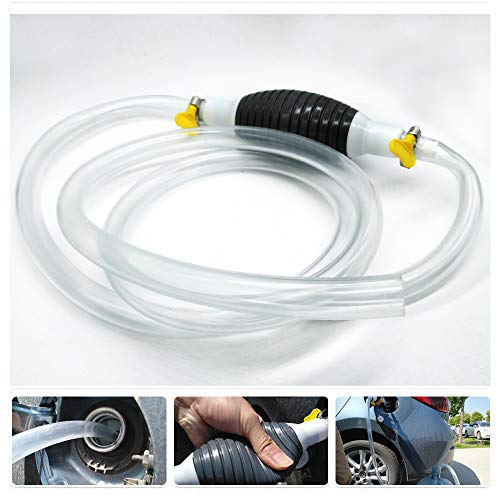 REACH AUTO PARTS Newest High Flow Siphon Hand Pump Portable Manual Car Fuel Transfer Pump for Gas Gasoline Petrol Diesel Oil Liquid Water Fish Tank with 2M Syphon Hose