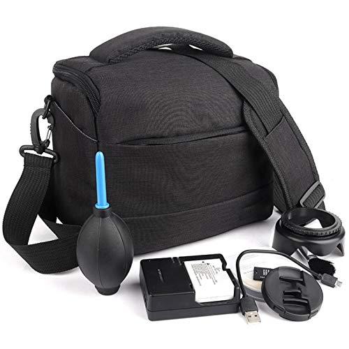 Yi-xir Bolsa de hombro de poliéster para cámara de moda, ligera, resistente y duradera (color: negro, tamaño: A)