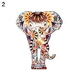 Broche de esmalte para chaquetas, mochilas, ropa, 1 unidad, diseño de elefante, unisex 2#