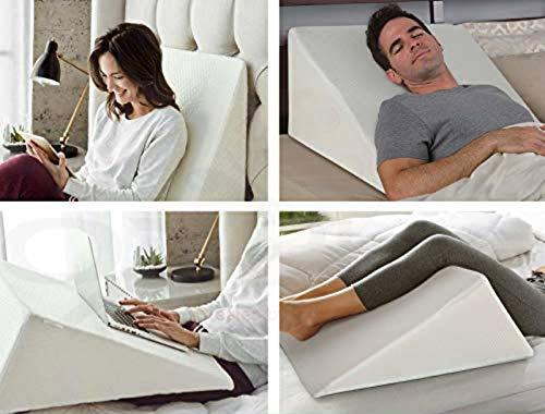 Large Wedge Pillow - Orthopaedic Acid Reflux, Reduce Snoring Back Neck Leg...