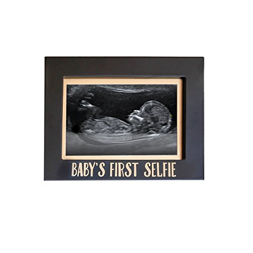 Baby's First Selfie Sonogram Frame, Baby's Ultrasound Photo Frame, Pregnancy Announcement, Gender-Neutral, Black