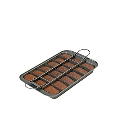 Chicago Metallic Professional Slice Solutions Brownie Pan, 9-Inch-by-13-Inch