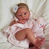 Muñeca Reborn Niña Reborn, 21 Pulgadas 50 Cm Cuerpo Suave Muñeca Más Suave como Bebé Real Silicona Completa para Niños y Niñas Lavables Regalo,21inch