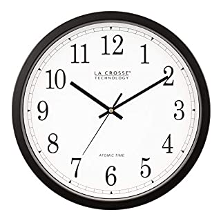 La Crosse Technology WT-3143A  14-Inch Atomic Wall Clock, Black (B0002WZRJK) | Amazon price tracker / tracking, Amazon price history charts, Amazon price watches, Amazon price drop alerts