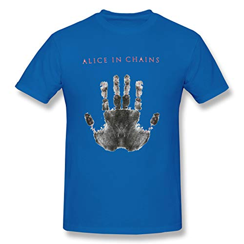 Alice In Chains Birth Dates Hand Men's Short Sleeve T-Shirt Graphic Unique Tops Blue 3XL
