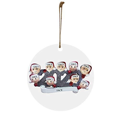 YOUMETA Figura Decorativa de cuarentena Personalizada para Familia 2020, 4 Regalos para Nietos, compañeros de Trabajo, Amigos, 1 Unidad