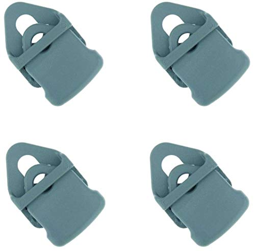 SPFIX BO-Camp Set 4 Clips Mini Grau für Fußmatten Vorzeltteppiche Campingteppich Zeltboden Zeltplane Spanner (4X Mini Grau)