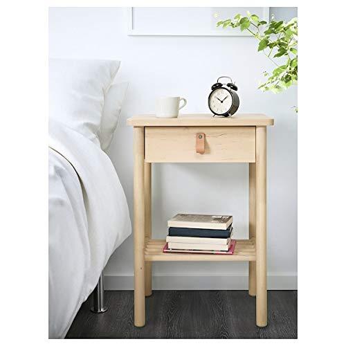 UK Bargain Seller BJÖRKSNÄS Nachttisch Birke 48x38 cm robust und pflegeleicht Beistelltisch Beistelltisch...