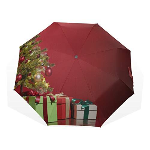 Paraguas de Viaje para Adultos Festival Árbol de Navidad Año Nuevo 3...