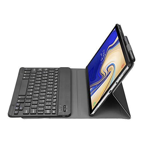 LISUONG MCDC AYD A510 Bluetooth 3.0 Funda de Cuero Bluetooth Desmontable Ultrafino para Samsung Galaxy Tab A 10.1 (2019) T510 / T515, con Ranura de lápiz y Soporte (Negro) (Color : Black)
