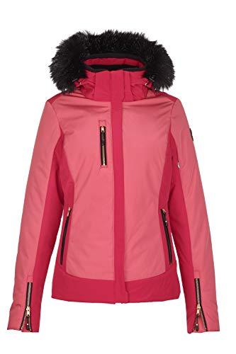 Killtec Damen Elanora Skijacke Mit Abzippbarer Kapuze Und Schneefang, Pink, 48