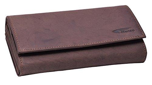 Menzo Kellnerbörse aus echten Leder, Kellnergeldtasche, Kellnerbeutel (Marrone)
