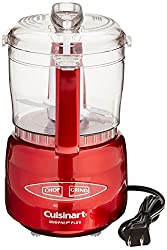 Cuisinart Mini Prep Plus in metallic red, editor's pick for Best Small Food Processor, click to see it on Amazon