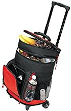 Travel5.0 Deluxe Ripstop Beach Picnic Rolling Cooler With Wheels, Red