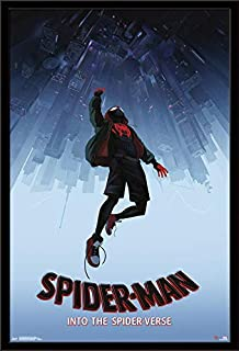 Trends International Marvel Comics Movie Man: Enter The Spider-Verse-Falling One Sheet Wall Poster, 24.25