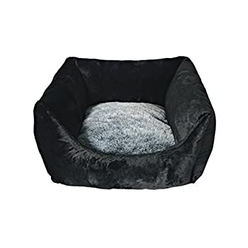 Martin-Sellier - Corbeille carrée pour chat - Angora Black & Grey (50cm)