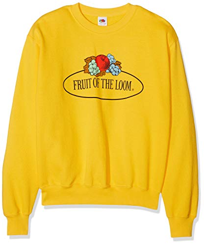 Fruit of the Loom Herren 012202 Sweatshirt, Gelb (Sonnenblumengelb 34), Small