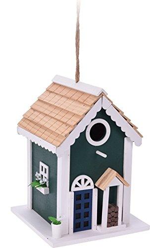 Trendkontor Vogelhaus/Nistkasten in 3 verschiedenen Designs (grün)