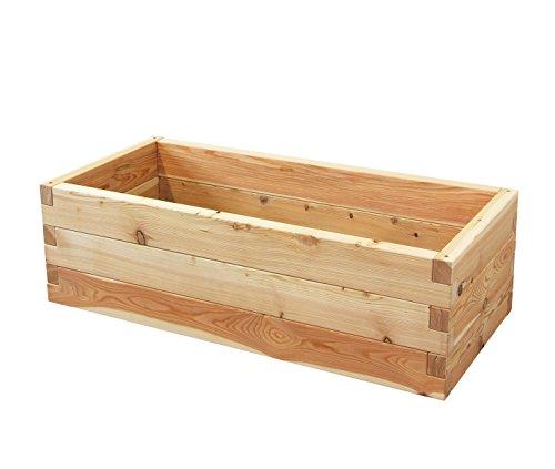 Gartenallerlei Hochbeet LÄRCHE Größe 1 – 130,5x60,5x39 cm (LxBxH) - Das regionale und soziale Holzhochbeet