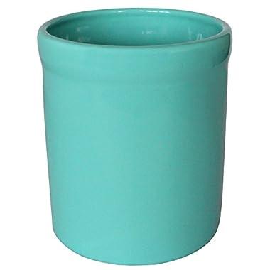 American Mug Pottery Ceramic Utensil Crock Utensil Holder, Made in USA, Turquoise