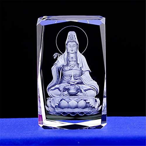LEYAR Crystal Buddha Statue Guanyin Manjusri Tathagata Samantabhadra, Jizo, Maitreya Buddha and Bodhisattva's Home Decoration,B