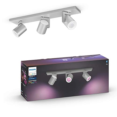 Hue White & Col. Amb. Argenta Spot 3 vlg. aluminium 3x350lm Bluetooth