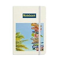 白い雲が空の道標 ノートブッククラシックジャーナル日記A 5