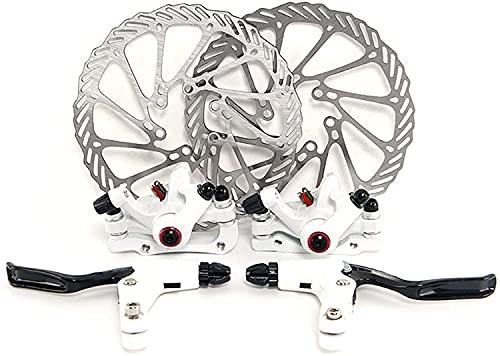 Yorbay Kit Freno a Disco Anteriore/Posteriore Biciclette Impostare MTB di Frenatura a Disco 160MM Rotori Bici da Strada (Bainco) Riutilizzabile