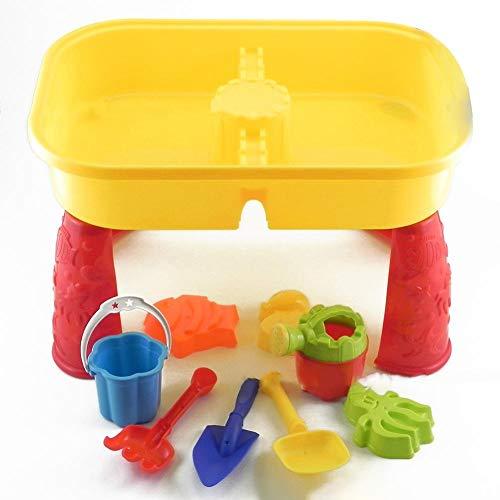 Speeltafel zand en water kinderen zandbak tafel zand speelgoed met schep gieter zeilboot zandloper accessoires kinderspeeltafel