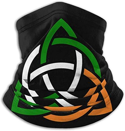 Fenrris65 - Pañuelo de cuello con diseño irlandés para el polvo, clima frío, invierno al aire libre festivales deportes para hombres y mujeres