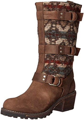 Woolrich Women's Yukon Junction Harness Boot, Bitter Chocolate/Archival Blanket, 10 M US