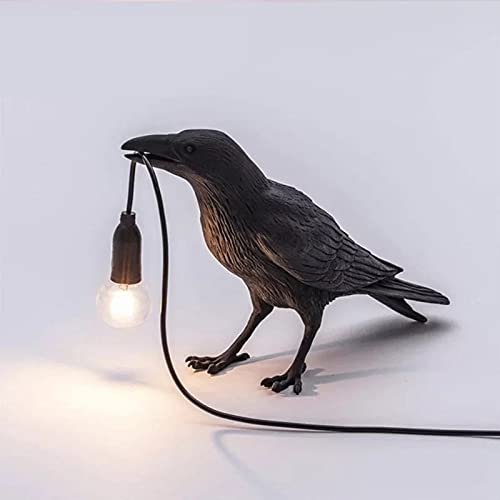 Lámpara de escritorio moderna, lámpara de pájaro de resina moderna Luces de mesa Lámparas de escritorio creativas Decoración de regalo de cabecera para dormitorio, sala de estudio. (Tres estilos),C