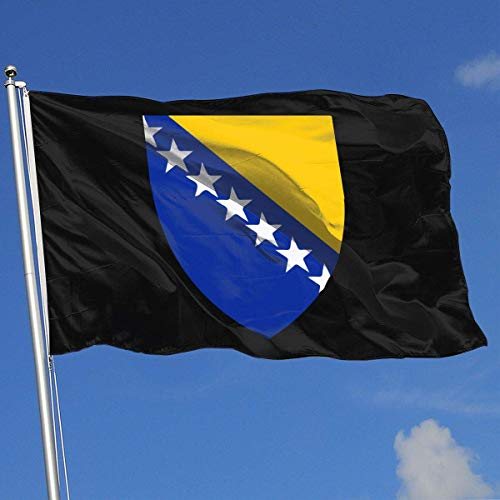 Zudrold Außenflaggen Wappen von Bosnien und Herzegowina Flagge für Sportfan Fußball Basketball Baseball Hockey