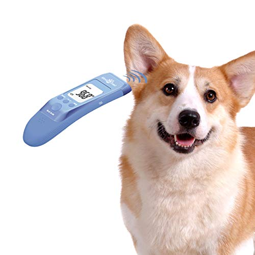 MINDPET-MED Fast Clinical Pet Thermometer for Dogs, Cats, Animals with 3 Switchable Modes (Body, Object Surface Temp,Room), Body Modes accurately Measures pet Ear Temperature, C/F Switchable