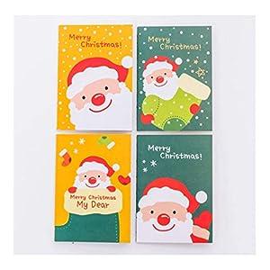 HJHJ Cuadernos Serie de Dibujos Animados de Navidad pequeño Cuaderno, Grueso Papel del Diario, for la Escuela/Niño, 40 Paquetes, 4 Patrones Mixtos, Puede ser Utilizado un Regalo Dar blocs de Notas