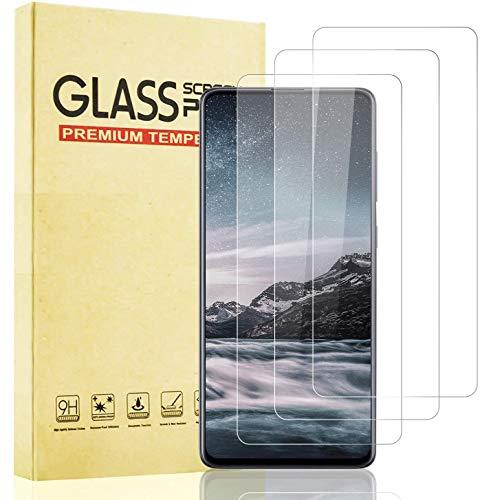 Lixuve 3 Unidades Protector de Pantalla para Samsung Galaxy A71, [Sin Burbujas] [Dureza 9H] [Anti Dactilares] Vidrio Templado para Galaxy A71