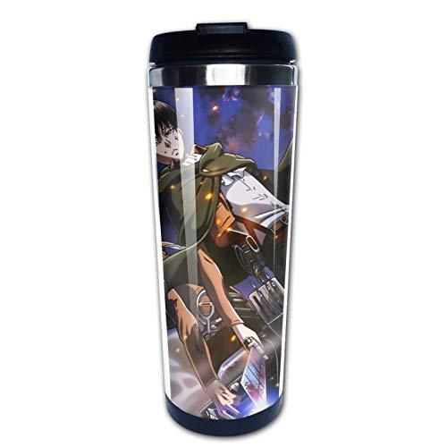 XCNGG At-ta-ck On Ti-ta-n Taza de café de viaje Vaso de acero inoxidable Vaso Botella de agua 400ml