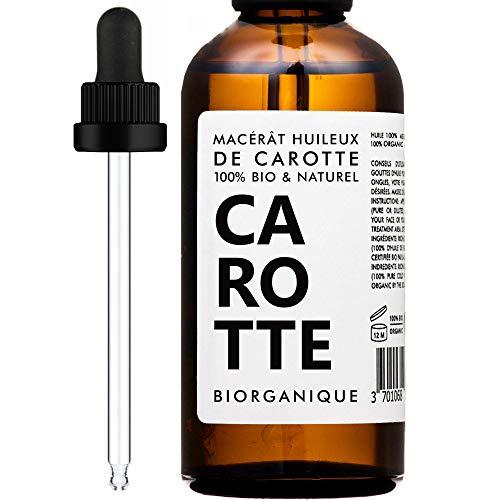 Bio Karottenöl (Mazerat) - 100% rein, vegan und bio - 50 ml - Pflege für Körper, Haut, Gesicht