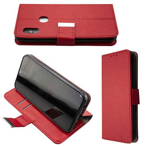 caseroxx Handy Hülle Tasche kompatibel mit Gigaset GS290 Bookstyle-Hülle Wallet Hülle in rot
