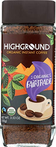 Highground Organic Instant Regular Coffee, 3.53 Ounce