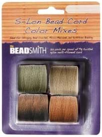 Sales results No. 1 S-Lon Beading Cord - Neutrals Mix Sp Different Pack 4 Color of price