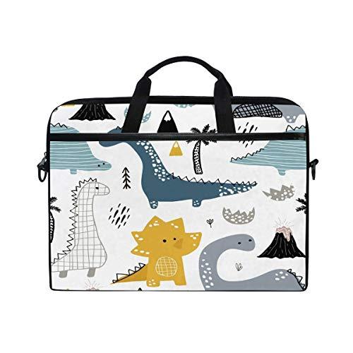 Laptop Sleeve Case,Laptop Bag,Cartoon Dinosaur Water Briefcase Messenger Notebook Computer Bag with Shoulder Strap Handle,28.5×38 CM/14 Inch