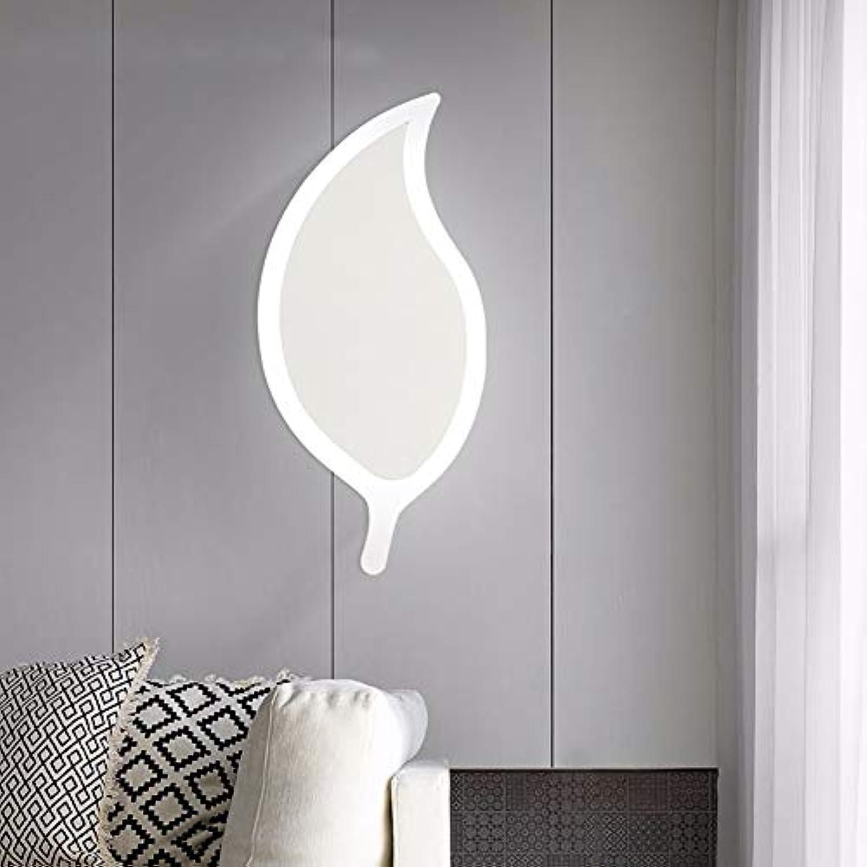 Weiß Leaf Wandleuchte LED Schlafzimmer Nachttischlampe 11W Innenwandleuchte Gehweg Schmiedeeisen Lampe Krper dekorative Wandleuchte-Weiß light